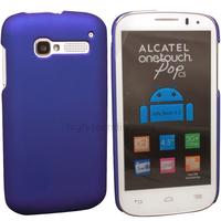 Housse etui coque rigide pour Alcatel One Touch Pop C5 5036D + film ecran - BLEU RIGIDE
