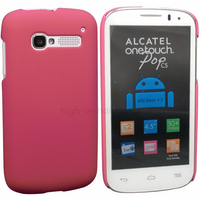 Housse etui coque rigide pour Alcatel One Touch Pop C5 5036D + film ecran - ROSE RIGIDE
