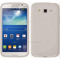 Housse etui coque silicone gel pour Samsung Galaxy Grand 2 g7105 + film ecran - BLANC