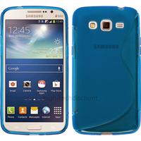 Housse etui coque silicone gel pour Samsung Galaxy Grand 2 g7105 + film ecran - BLEU