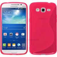 Housse etui coque silicone gel pour Samsung Galaxy Grand 2 g7105 + film ecran - ROSE