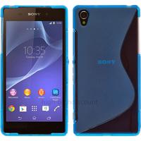 Housse etui coque pochette silicone gel pour Sony Xperia Z3 + film ecran - BLEU