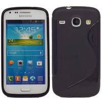 Housse etui coque gel pour Samsung G386 Galaxy Galaxy Core 4G LTE + film ecran - NOIR