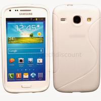 Housse etui coque silicone gel pour Samsung Galaxy Galaxy Core Plus G3500 + film ecran - BLANC
