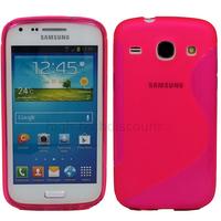 Housse etui coque silicone gel pour Samsung Galaxy Galaxy Core Plus G3500 + film ecran - ROSE