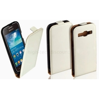 Housse etui coque PU cuir fine pour Samsung Galaxy Core Plus G3500 + film ecran - BLANC