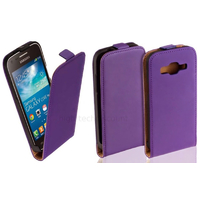 Housse etui coque PU cuir fine pour Samsung Galaxy Core Plus G3500 + film ecran - MAUVE
