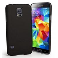 Housse etui coque fine rigide pour Samsung i9600 Galaxy S5 + film ecran - NOIR RIGIDE