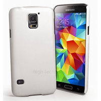 Housse etui coque fine rigide pour Samsung i9600 Galaxy S5 + film ecran - BLANC RIGIDE