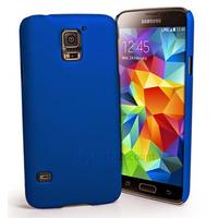 Housse etui coque fine rigide pour Samsung i9600 Galaxy S5 + film ecran - BLEU RIGIDE