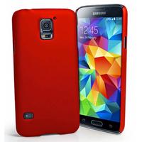 Housse etui coque fine rigide pour Samsung i9600 Galaxy S5 + film ecran - ROUGE RIGIDE