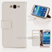 Housse etui coque portefeuille pour Samsung G7105 Galaxy Grand 2 + film ecran - BLANC