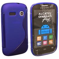 Housse etui coque silicone gel fine pour Alcatel One Touch Pop C3 4033D + film ecran - BLEU