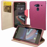 Housse etui coque pochette portefeuille pour Acer Liquid Z5 Duo + film ecran - ROSE