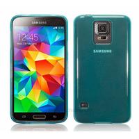 Housse etui coque fine silicone gel pour Samsung Galaxy S5 i9600 + film ecran - BLEU GLOSSY