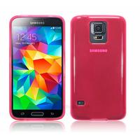 Housse etui coque fine silicone gel pour Samsung Galaxy S5 i9600 + film ecran - ROSE GLOSSY