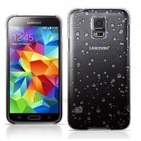 Housse etui coque pochette rigide goutte de pluie pour Samsung i9600 Galaxy S5 + film ecran - NOIR