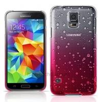 Housse etui coque pochette rigide goutte de pluie pour Samsung i9600 Galaxy S5 + film ecran - ROSE