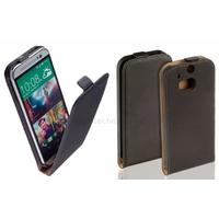 Housse etui coque pochette PU cuir fine pour HTC One 2 M8 + film ecran - NOIR