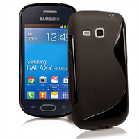 Housse etui coque silicone gel fine pour Samsung s6790 Galaxy Fame Lite + film ecran - NOIR