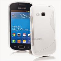 Housse etui coque silicone gel fine pour Samsung s6790 Galaxy Fame Lite + film ecran - BLANC