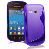 Housse etui coque silicone gel fine pour Samsung s6790 Galaxy Fame Lite + film ecran - BLEU