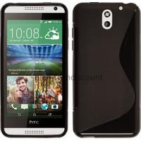 Housse etui coque silicone pochette gel fine pour HTC Desire 610 + film ecran - NOIR