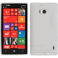 Housse etui coque silicone pochette gel fine pour Nokia Lumia 930 + film ecran - BLANC