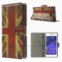 Housse etui coque pochette portefeuille PU cuir pour Sony Xperia M2 + film ecran - UK
