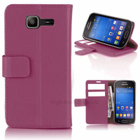 Housse etui coque portefeuille PU cuir pour Samsung s7390 Galaxy Trend Lite + film ecran - MAUVE