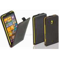 Housse etui coque pochette PU cuir fine pour Nokia Lumia 1320 + film ecran - NOIR