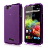 Housse etui coque pochette silicone gel fine pour Wiko Rainbow 4G + film ecran - MAUVE