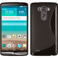 Housse etui coque pochette silicone gel fine pour LG G3 + film ecran - NOIR