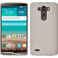 Housse etui coque pochette silicone gel fine pour LG G3 + film ecran - BLANC