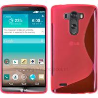 Housse etui coque pochette silicone gel fine pour LG G3 + film ecran - ROSE