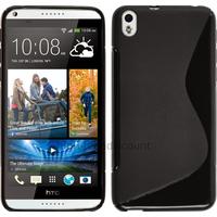 Housse etui coque pochette silicone gel fine pour HTC Desire 816 + film ecran - NOIR