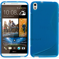 Housse etui coque pochette silicone gel fine pour HTC Desire 816 + film ecran - BLEU