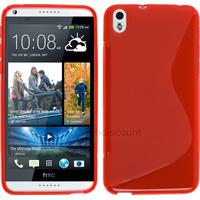 Housse etui coque pochette silicone gel fine pour HTC Desire 816 + film ecran - ROUGE