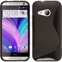 Housse etui coque pochette silicone gel fine pour HTC One Mini 2 + film ecran - NOIR