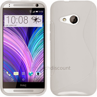 Housse etui coque pochette silicone gel fine pour HTC One Mini 2 + film ecran - BLANC