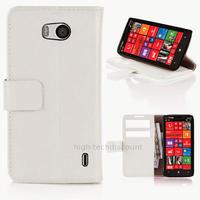 Housse etui coque pochette portefeuille PU cuir pour Nokia Lumia 930 + film ecran - BLANC