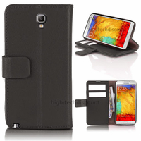 Housse etui coque portefeuille pour Samsung n7505 Galaxy Note 3 Neo Lite + film ecran - NOIR