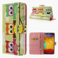 Housse etui coque portefeuille pour Samsung n7505 Galaxy Note 3 Neo Lite + film ecran - 3 HIBOUX
