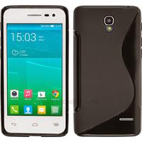 Housse etui coque silicone gel fine pour Alcatel One Touch Pop S3 5050D + film ecran - NOIR