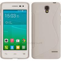 Housse etui coque silicone gel fine pour Alcatel One Touch Pop S3 5050D + film ecran - BLANC