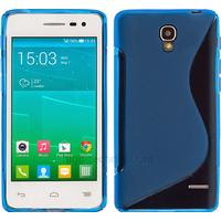 Housse etui coque silicone gel fine pour Alcatel One Touch Pop S3 5050D + film ecran - BLEU