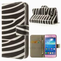 Housse etui coque portefeuille PU cuir pour Samsung g3500 Galaxy Core Plus + film ecran - ZEBRE