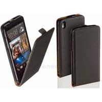 Housse etui coque pochette PU cuir fine pour HTC Desire 816 + film ecran - NOIR