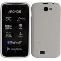 Housse etui coque pochette silicone gel fine pour Archos 40 Titanium - BLANC