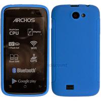 Housse etui coque pochette silicone gel fine pour Archos 40 Titanium - BLEU